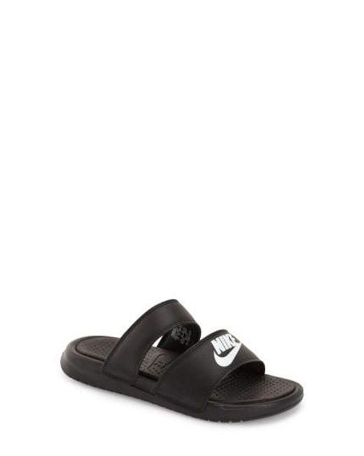 Nike   Black Benassi - Ultra Sandals    Lyst
