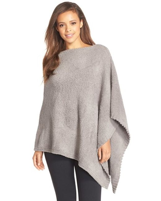 Barefoot Dreams | Black Barefoot Dreams Boatneck Cozychic Poncho | Lyst
