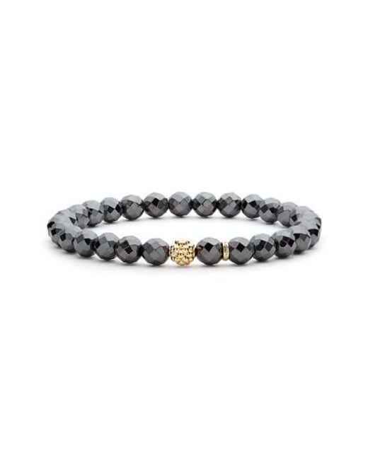 Lagos   Metallic 'caviar Icon' Semiprecious Stone Bracelet   Lyst