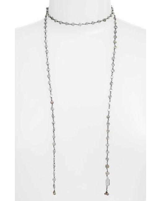 Ela Rae - Metallic Diana Lariat Necklace - Lyst