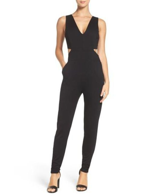 Fraiche By J | Black Faiche By J Cutout Jumpsuit | Lyst