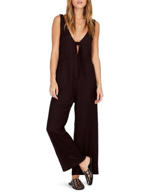 9e5656e44418 Lyst - Amuse Society Hang On Jumpsuit in Black