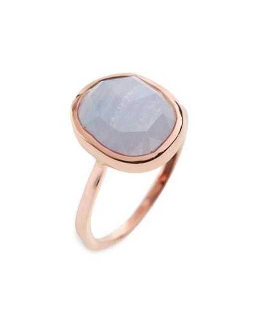 Monica Vinader - Blue 'siren' Medium Semiprecious Stone Stacking Ring - Lyst