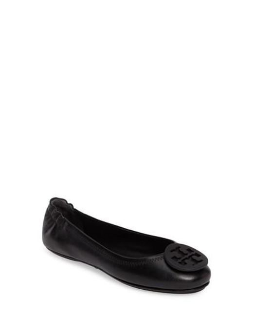 Tory Burch - Black Minnie Travel Ballet Flats - Lyst
