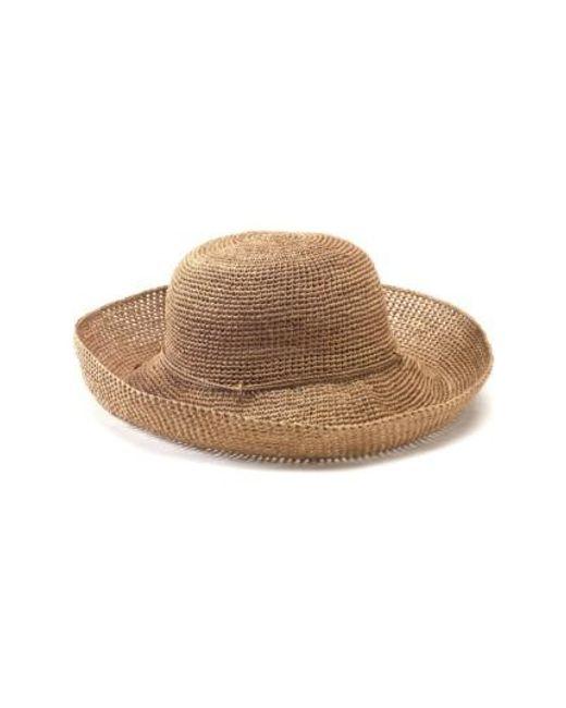 Helen Kaminski | Brown 'provence 12' Packable Raffia Hat | Lyst