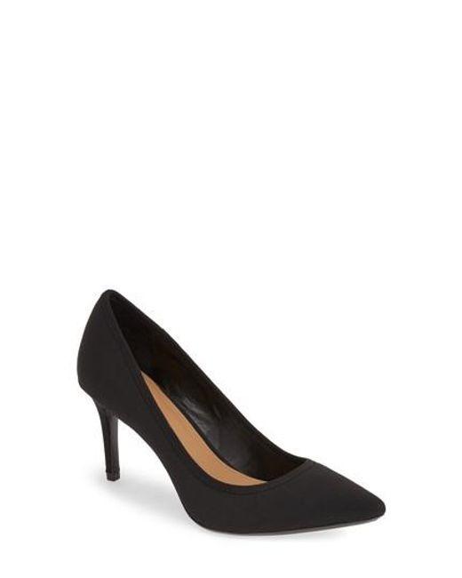 Calvin Klein   Black 'gayle' Pointy Toe Pump   Lyst