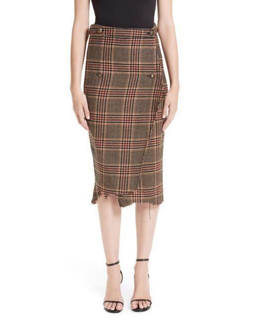 Vetements - Multicolor Distressed Wool Pencil Skirt - Lyst