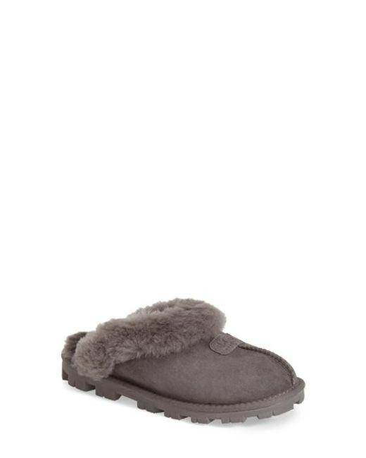 Ugg | Gray Ugg Genuine Shearling Slipper | Lyst