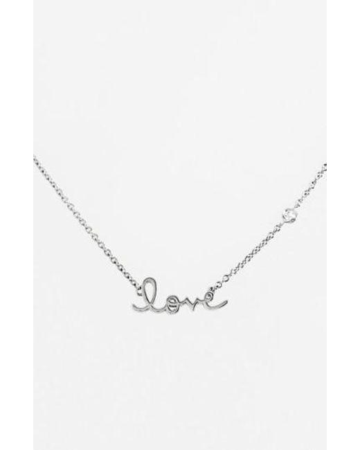 Shy By Sydney Evan | Metallic 'love' Necklace | Lyst