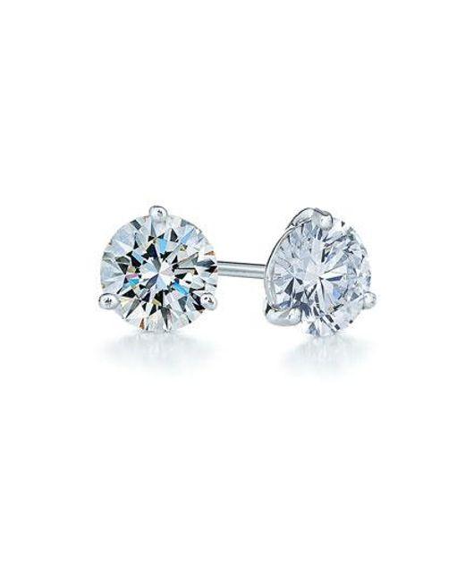Kwiat | Multicolor 1ct Tw Diamond & Platinum Stud Earrings | Lyst