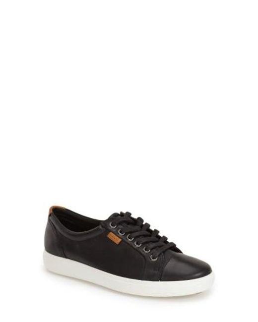 Ecco - Black 'soft 7' Cap Toe Sneaker - Lyst