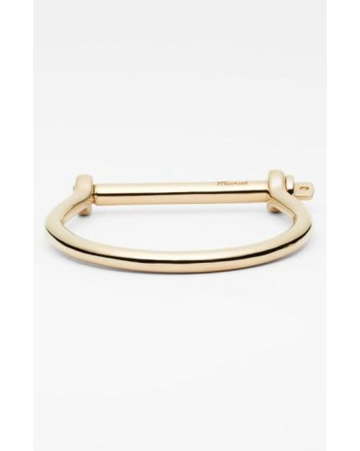 Miansai   Metallic Gold Plated Screw Cuff Bracelet for Men   Lyst