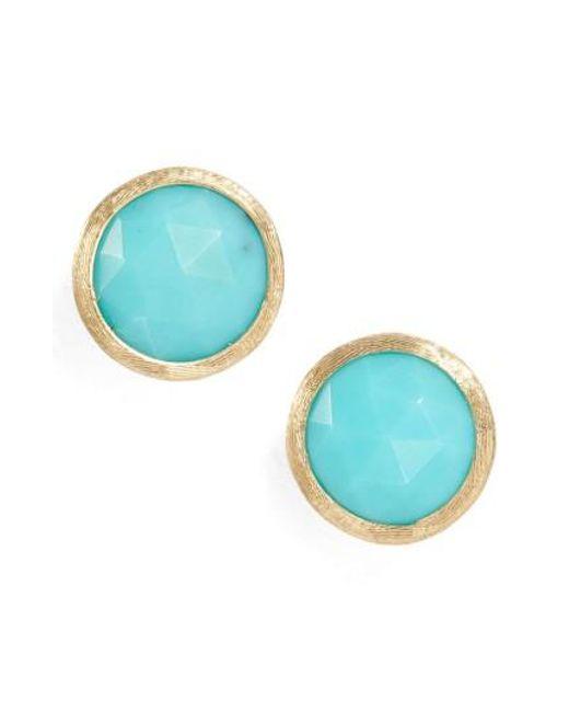 Marco Bicego | Blue 'jaipur' Stone Stud Earrings | Lyst