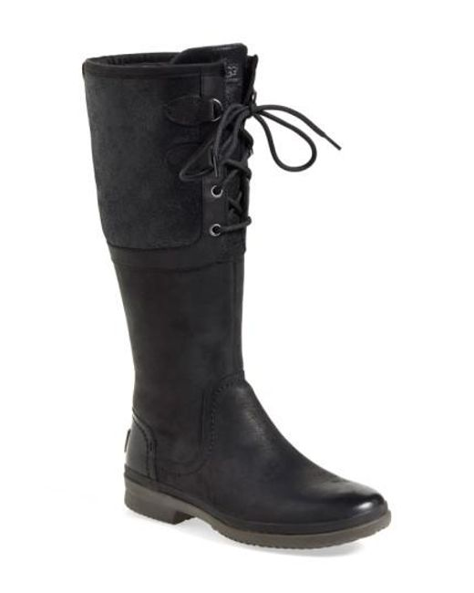 Ugg | Black Ugg 'elsa' Waterproof Boot | Lyst