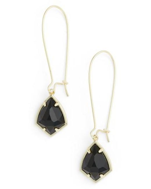 Kendra Scott | Metallic 'carrine' Semiprecious Stone Drop Earrings | Lyst