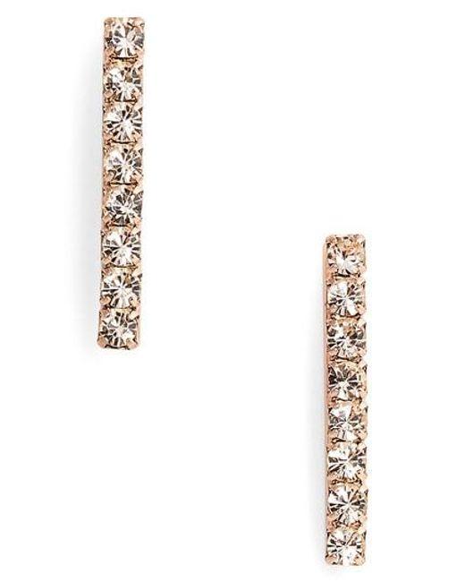 Loren Hope - Pink Paige Bar Stud Earrings - Lyst