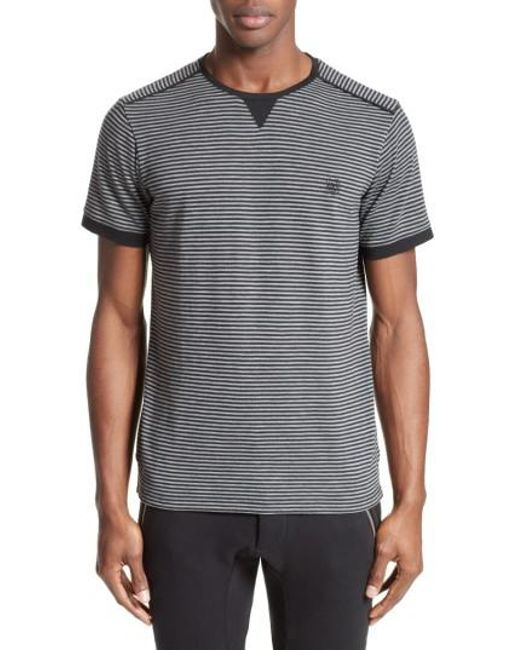 The Kooples | Black Stripe T-shirt for Men | Lyst