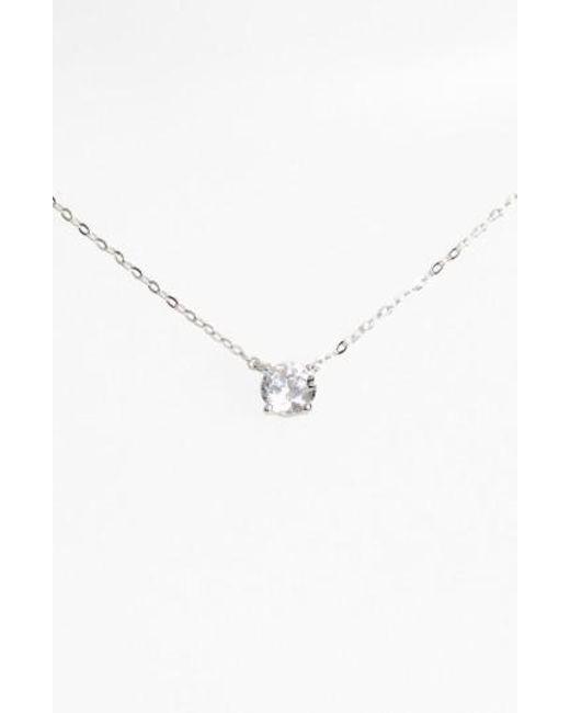 Lyst nadri cubic zirconia pendant necklace in metallic nadri metallic cubic zirconia pendant necklace lyst aloadofball Images
