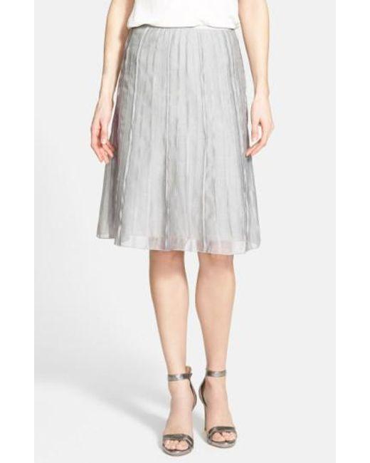 NIC+ZOE | Gray 'batiste Flirt' Skirt | Lyst