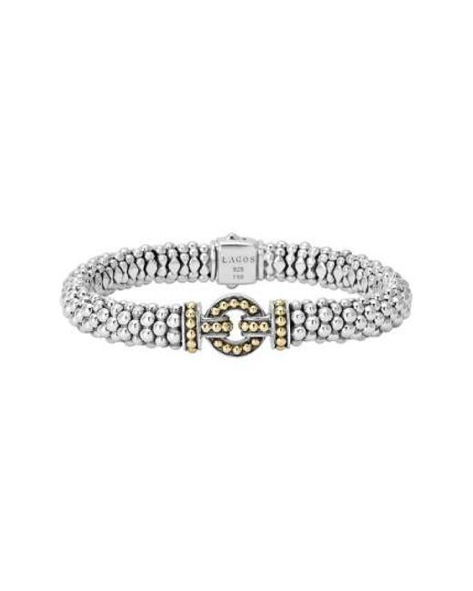 Lagos - Metallic 'enso' Two-tone Rope Caviar Bracelet - Lyst