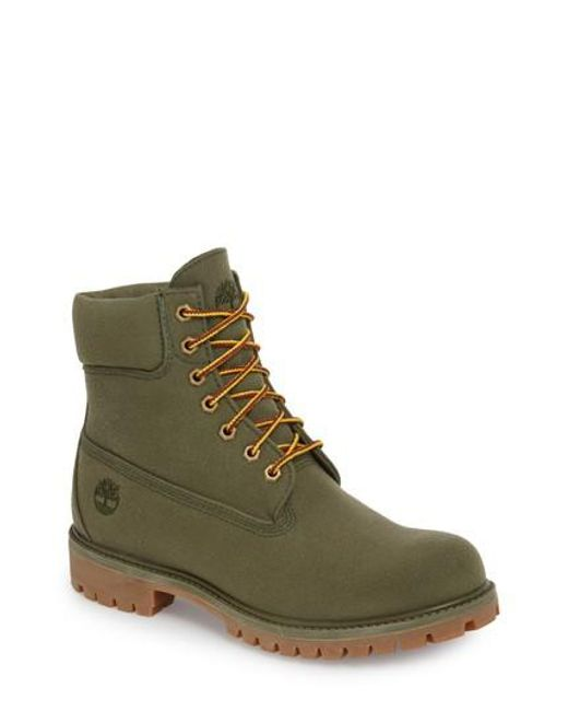 Timberland - Green Six Inch Premium Canvas Boot for Men - Lyst