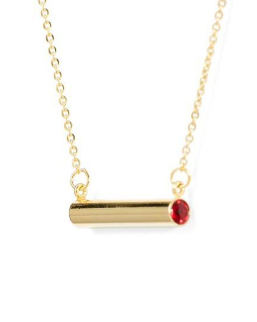 Stella Valle - Metallic January Crystal Bar Pendant Necklace - Lyst