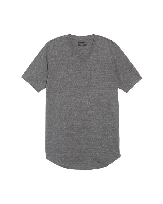 Goodlife - Gray Scallop Triblend V-neck T-shirt for Men - Lyst