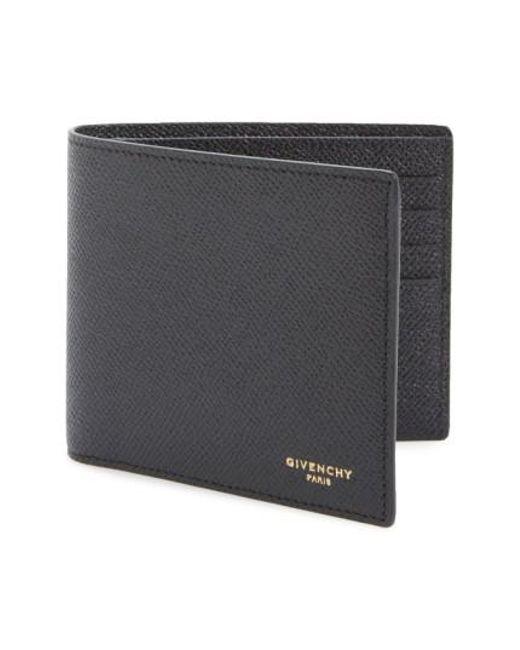 Givenchy | Black Calfskin Leather Bifold Wallet for Men | Lyst