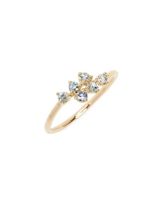 Wwake - Metallic Sapphire Mirrored Points Ring - Lyst