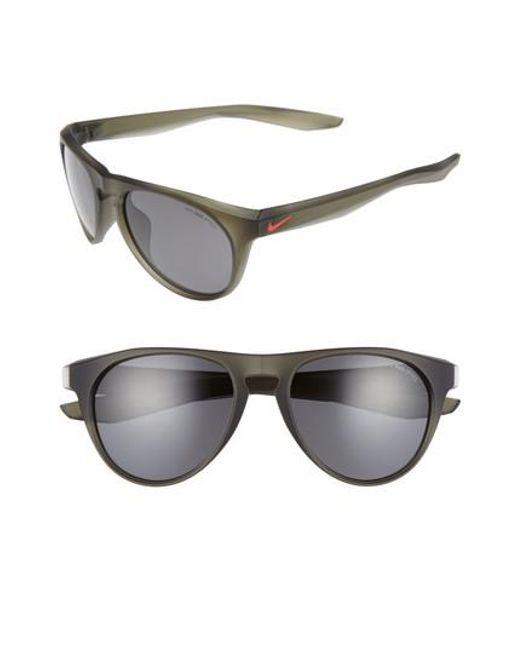 Nike | Gray Essential Jaunt 56mm Sunglasses | Lyst