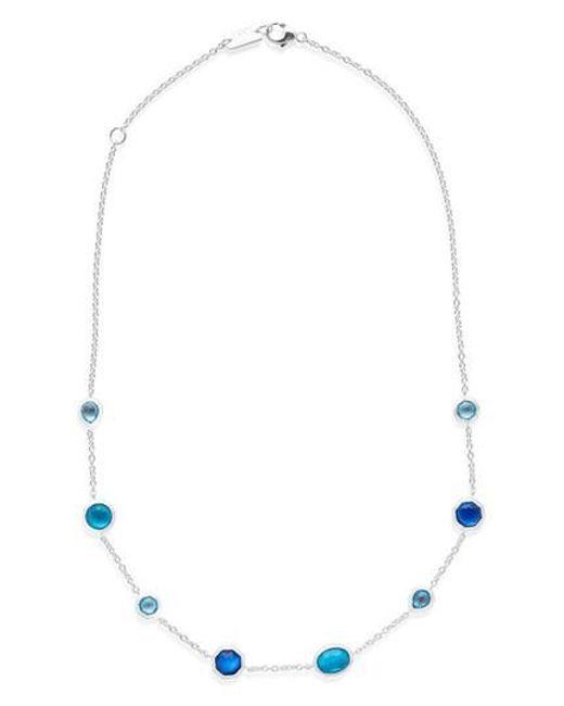 Ippolita | Blue Wonderland Station Necklace | Lyst