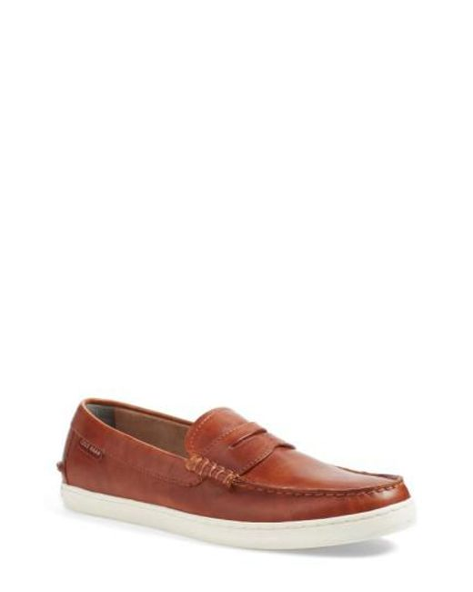 Cole Haan - Brown 'pinch' Penny Loafer for Men - Lyst