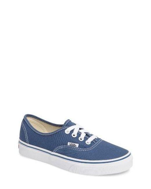 Vans   Blue 'authentic' Sneaker   Lyst