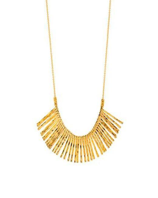Gorjana - Metallic Kylie Fan Necklace/ Gold - Lyst