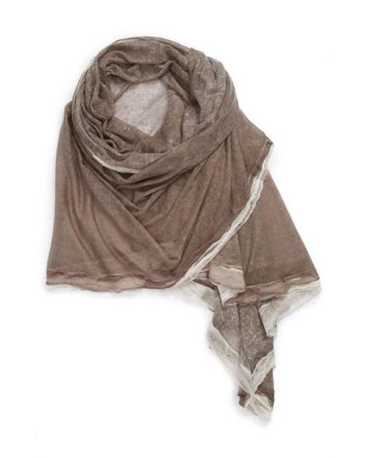 La Fiorentina - Brown Silk & Cashmere Wrap - Lyst