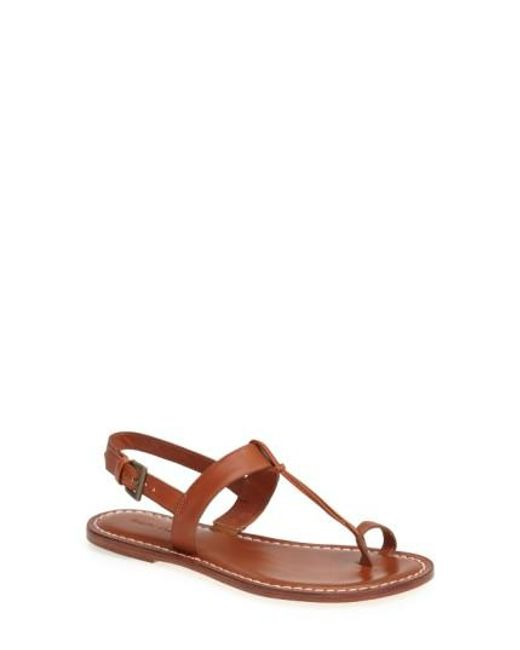 Bernardo | Brown Maverick Leather Sandal | Lyst