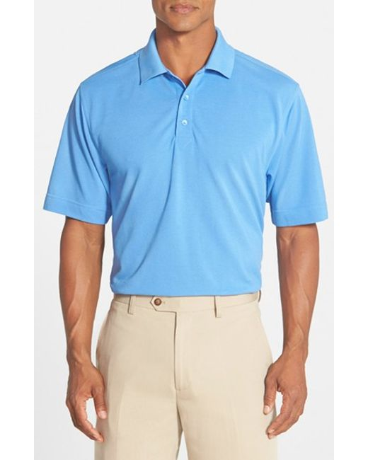 Cutter & Buck | Blue 'championship' Classic Fit Drytec Golf Polo for Men | Lyst