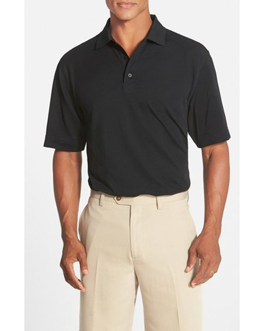 Cutter & Buck | Black 'championship' Classic Fit Drytec Golf Polo for Men | Lyst