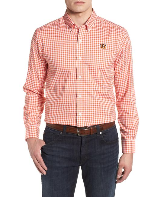 Cutter & Buck - Pink League Cincinnati Bengals Regular Fit Shirt for Men - Lyst