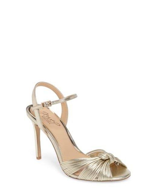 Badgley Mischka   Metallic Lady Ankle Strap Sandal   Lyst