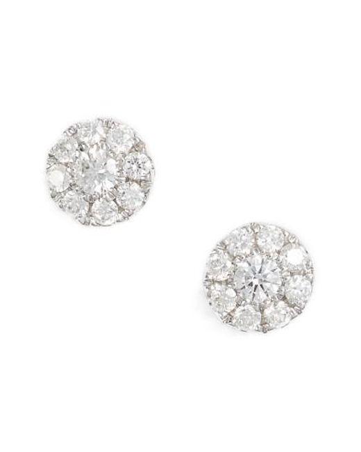 Bony Levy - Metallic Simple Obsessions Pave Diamond Stud Earrings (nordstrom Exclusive) - Lyst