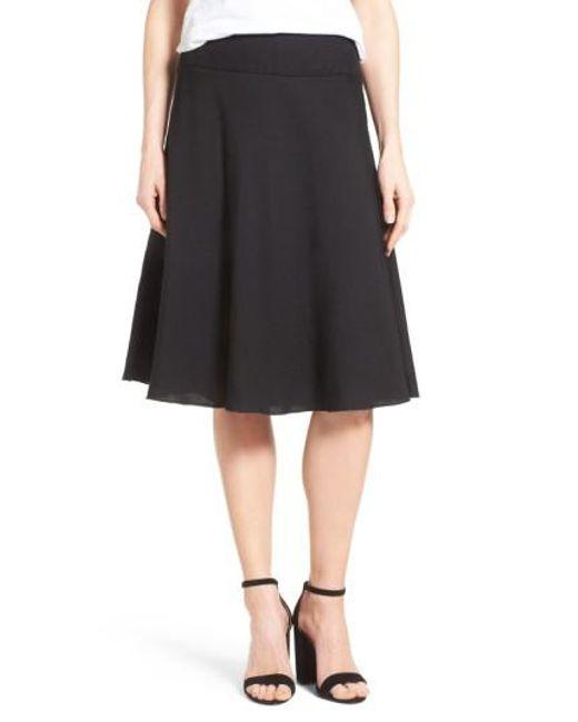 NIC+ZOE | Black Summer Fling Linen Blend Skirt | Lyst
