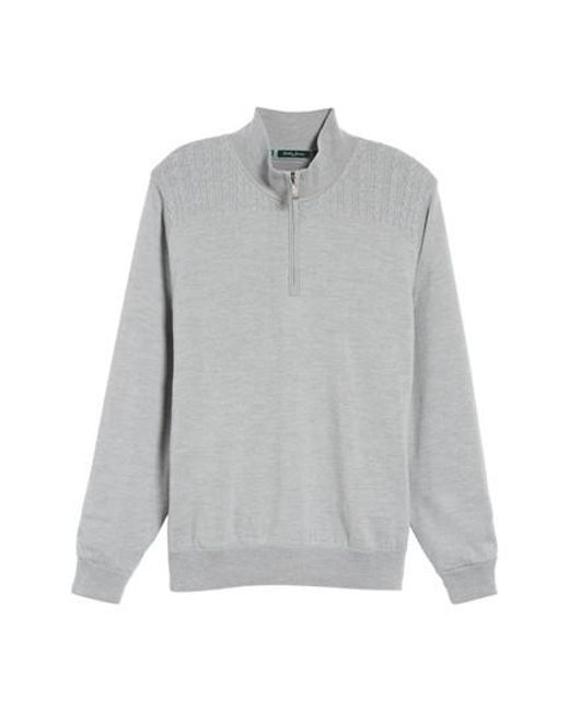 Bobby Jones | Gray Cable Wind Wool Sweater for Men | Lyst