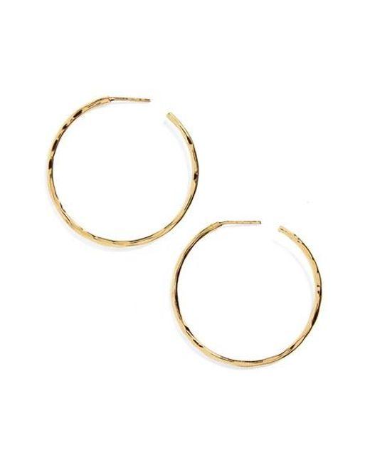 Argento Vivo   Metallic Medium Hammered Hoop Earrings   Lyst