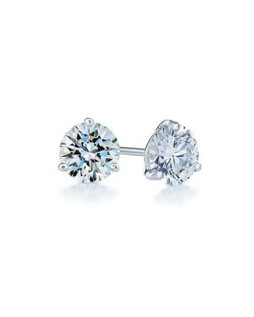 Kwiat - Metallic 0.75ct Tw Diamond & Platinum Stud Earrings - Lyst