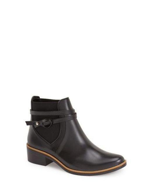 Bernardo   Black 'Peony' Short Waterproof Rain Boot   Lyst