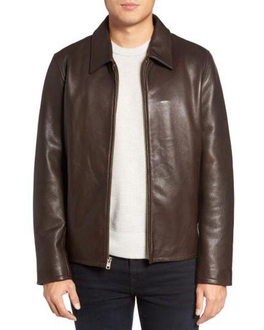 Vince Camuto   Black Leather Zip Front Jacket for Men   Lyst
