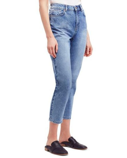 Free People - Blue Mom Ankle Jeans - Lyst