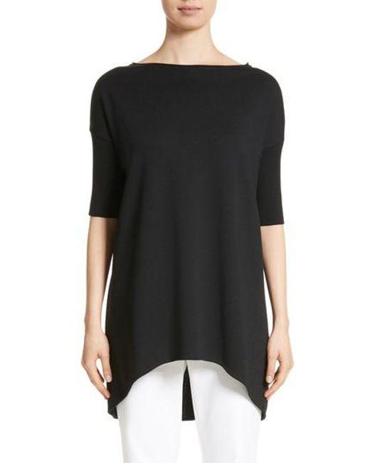 St. John | Black Milano Knit Tunic | Lyst