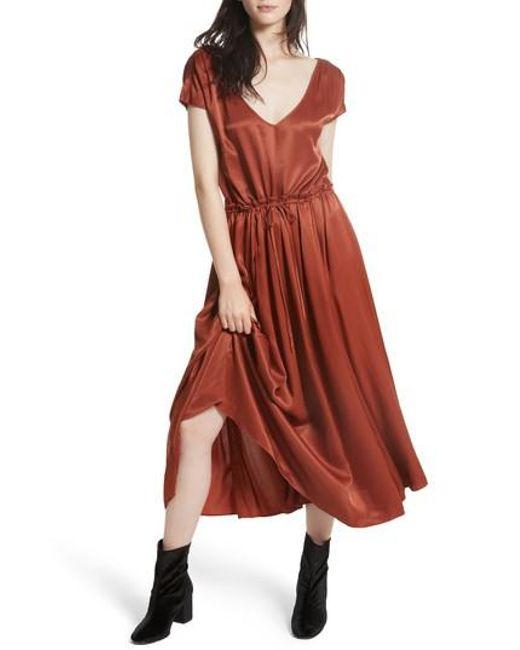 Free People   Red Love & Feeling Maxi Dress   Lyst